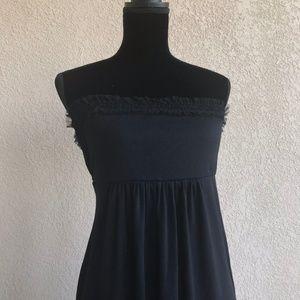Maternal America Dresses - Maternal America Black Strapless Dress Mesh Lace S